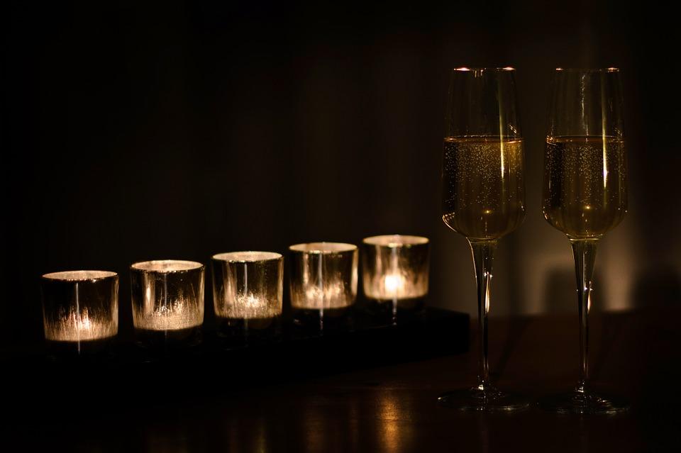 coupes de champagne pour le réveillon