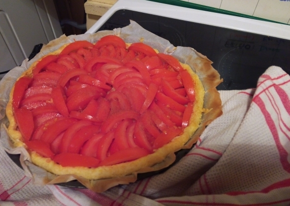 tarte salée tomate