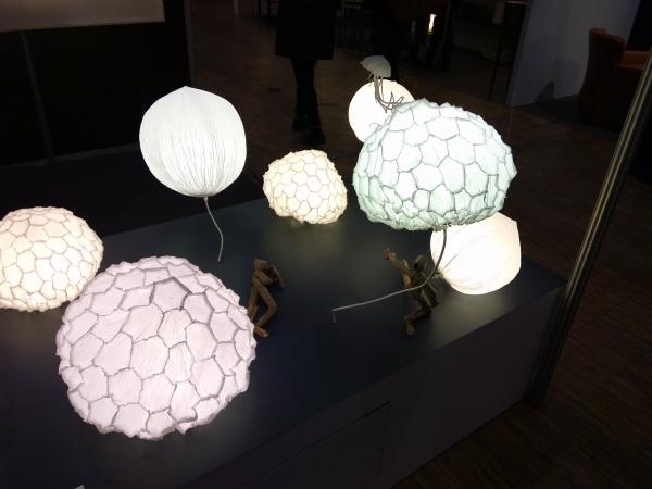 luminaires papier froissé