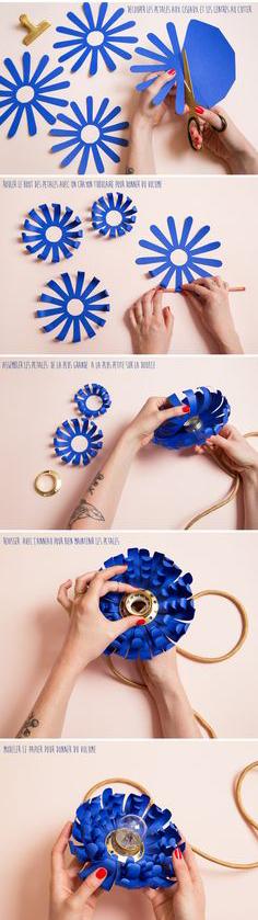 DIY fleur lampe