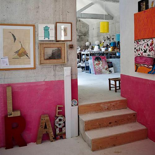 bas mur rose
