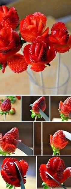 fraise fleur