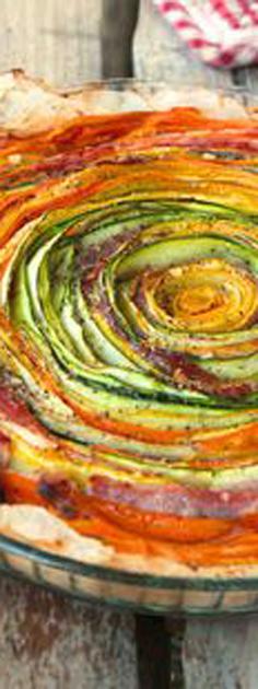tarte légumes fleur