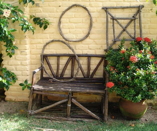 banc en bois d'extérieur