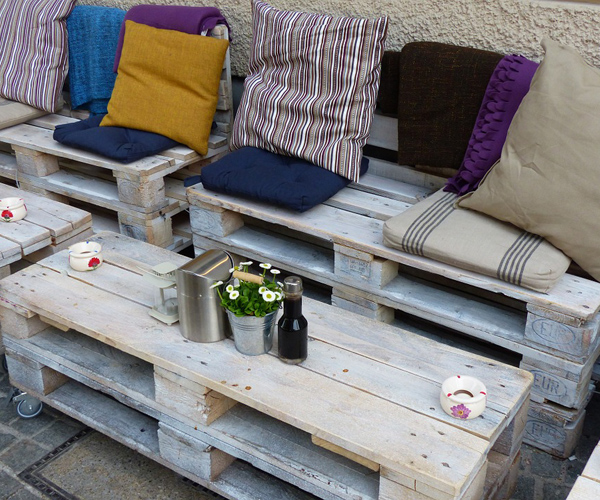 mobilier jardin palettes