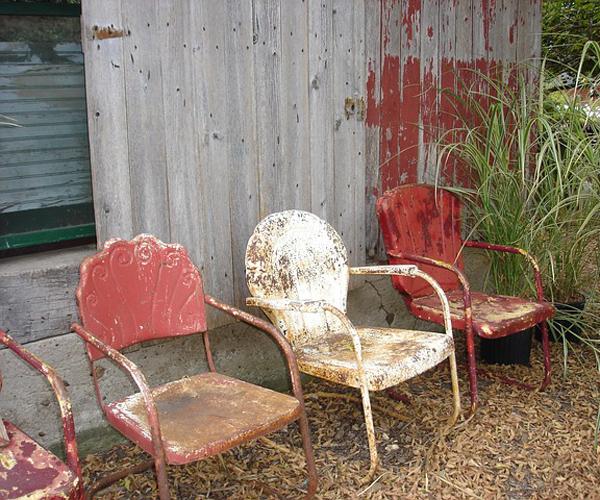 mobilier vintage extérieur