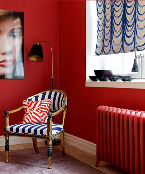 Salon deco rouge