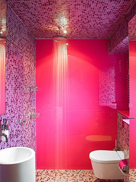 salle-de-bain rose