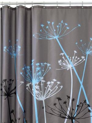 rideau douche fleur
