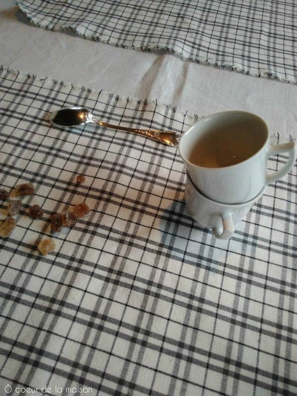 set table déplié