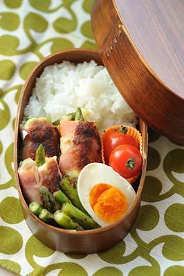 Lunch Box Asperge et Bacon facon Bento