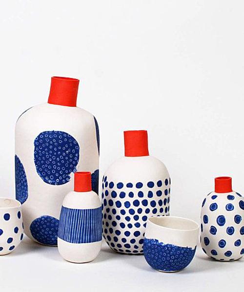 céramique bleu blanc