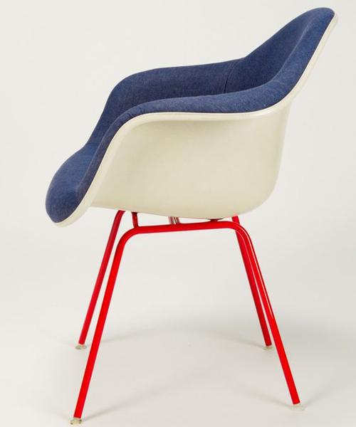 chaise vintage bleu
